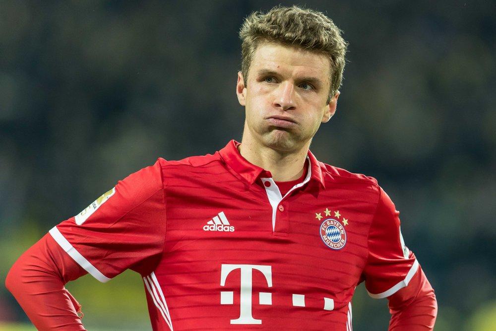 Thomas Müller har også haft vanskeligheder under Ancelotti. Kun tre mål er det blevet til.   Foto: Getty Images