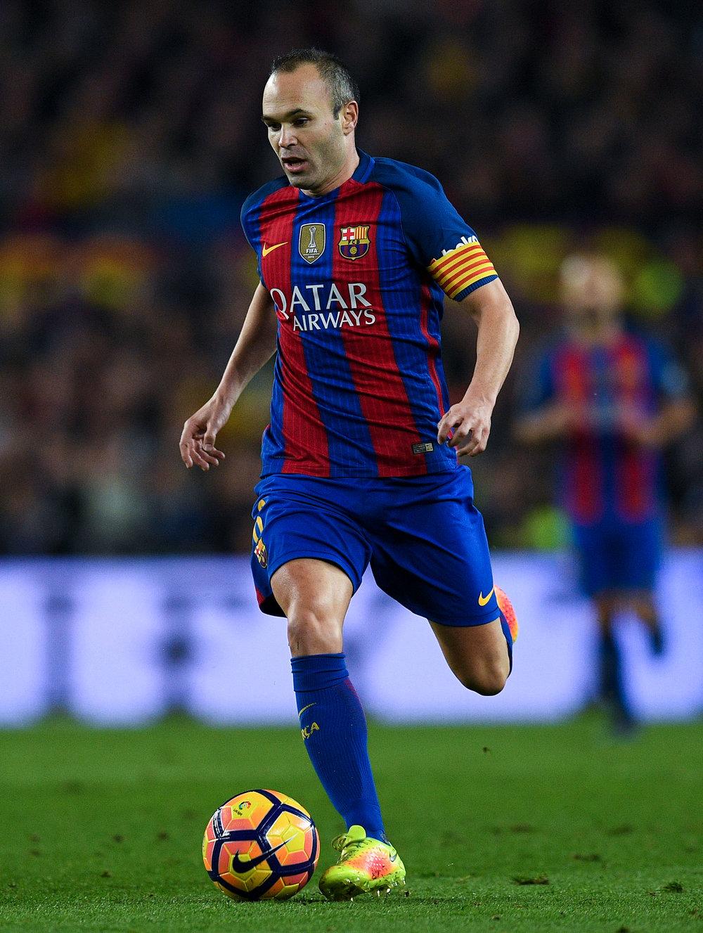 Iniesta gjorde en forskel, da han kom ind efter en times spil.   Foto: Getty Images