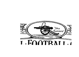 Arsenals emblem, som det så ud fra 1925-1949