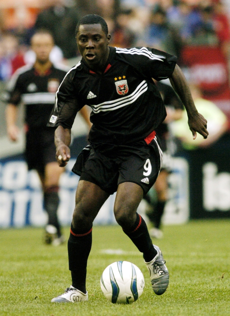 Første kamp i MLS: Freddy Adu kommer på banen mod San José i 2. halvleg - kun 14 år gammel. DC United vandt 2-1. Foto: Getty Images