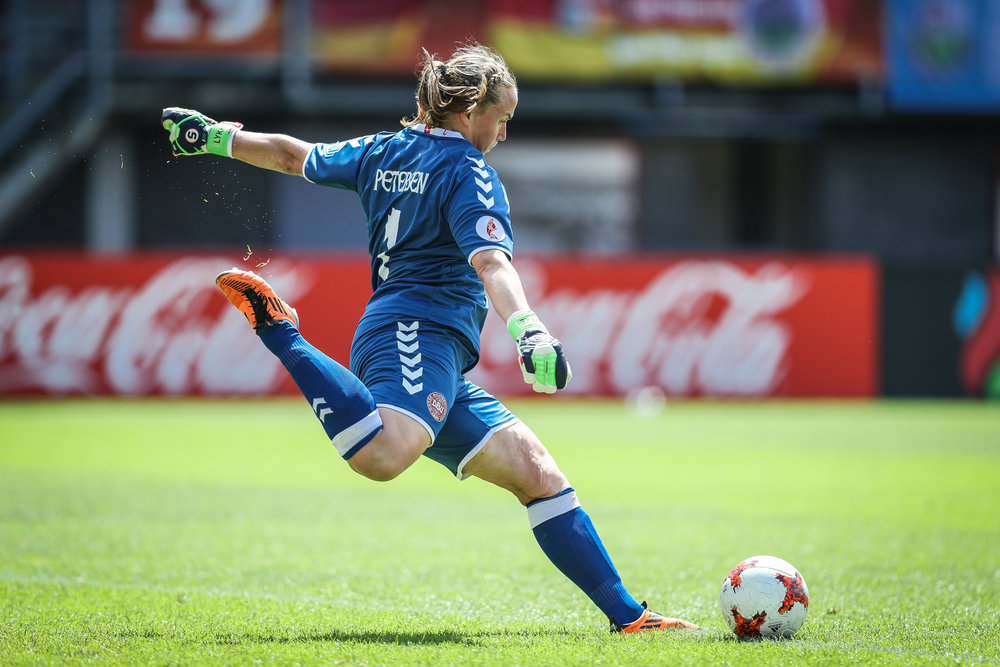Efter et drop i kampens indledning spillede Stina Lykke sig op og spillede en stor kamp. Foto: Maja Hitij/Getty Images