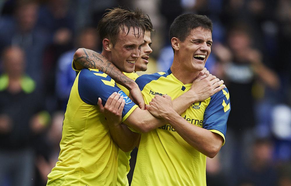 Samarbejdet og venskabet med Christian Nørgaard har også haft betydning for, at de to nu spiller sammen i Brøndby. Foto: Getty Images/Lars Rønbøg