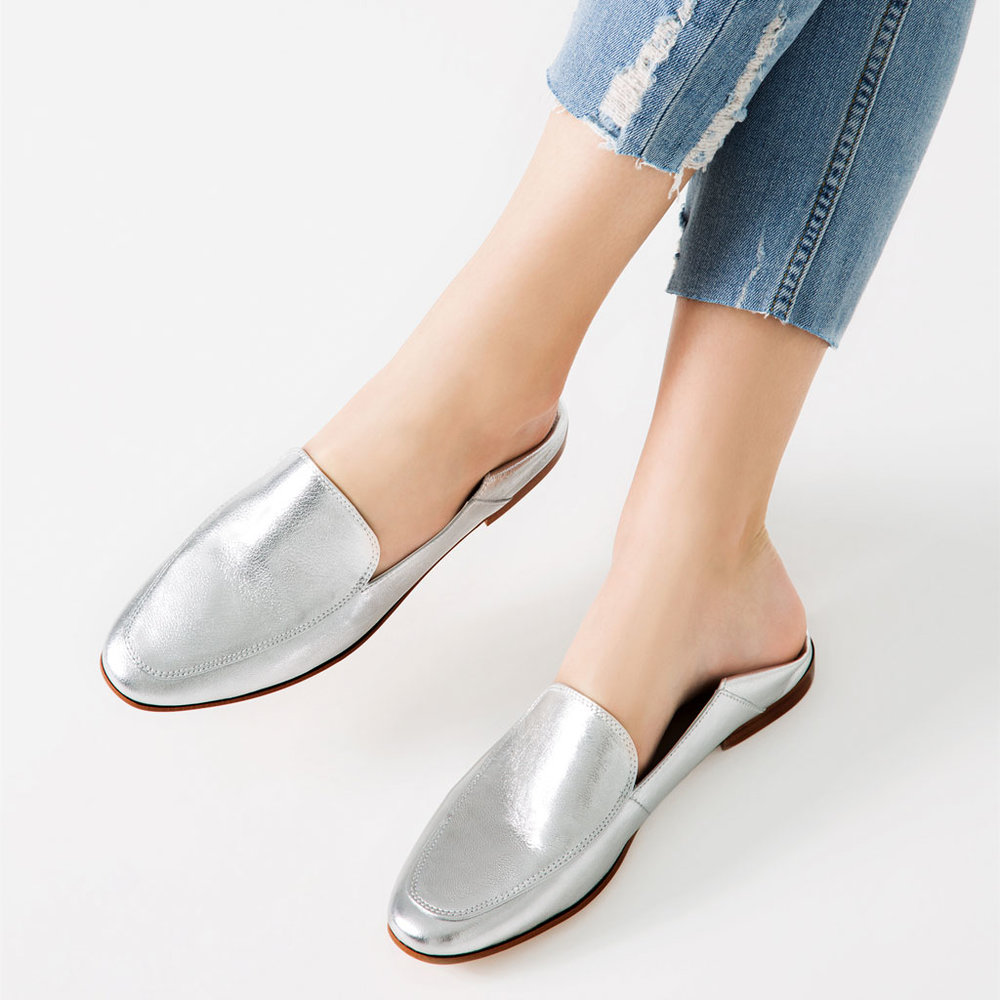 LAMINATED LEATHER LOAFERS Details