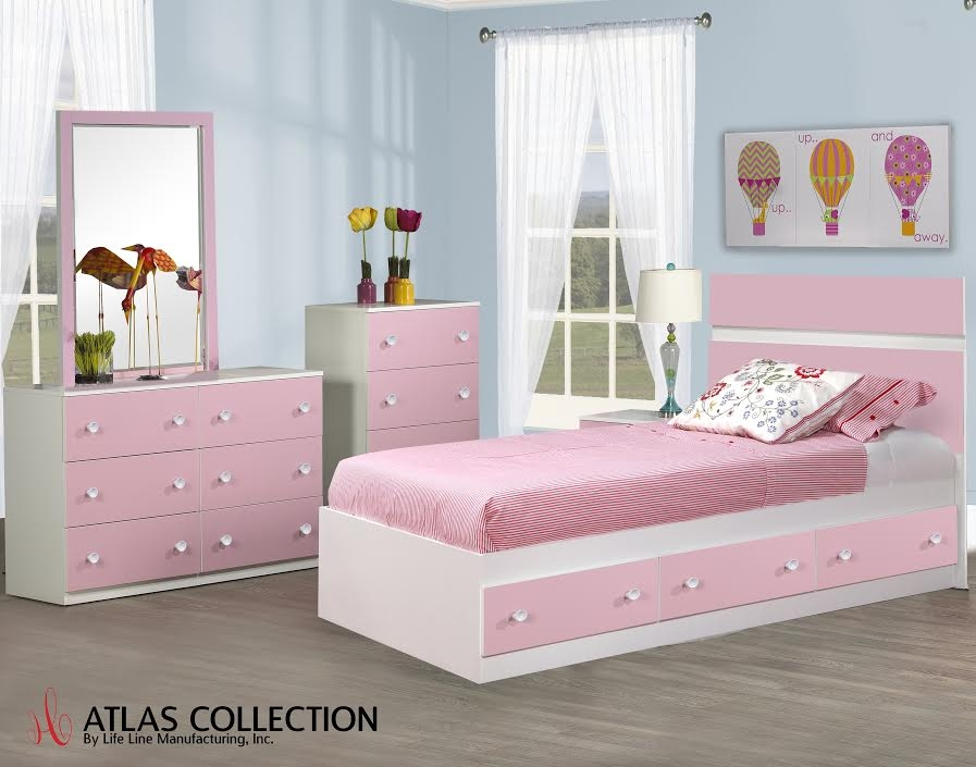 B055   Atlas Pink And White