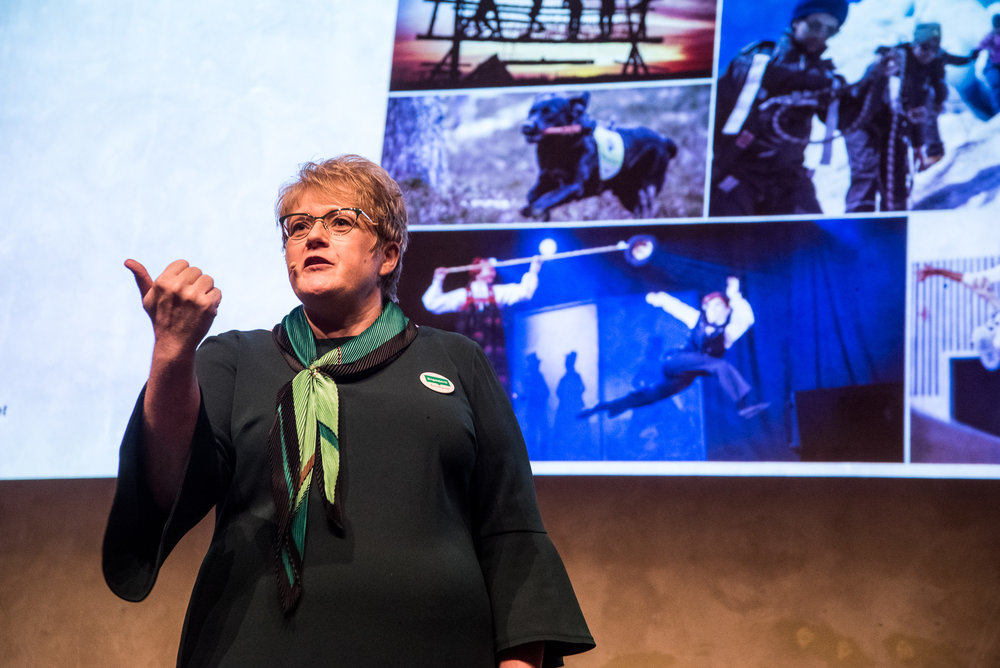 Kulturminister Trine Skei Grande presenterer den nye Frivillighetsmeldingen