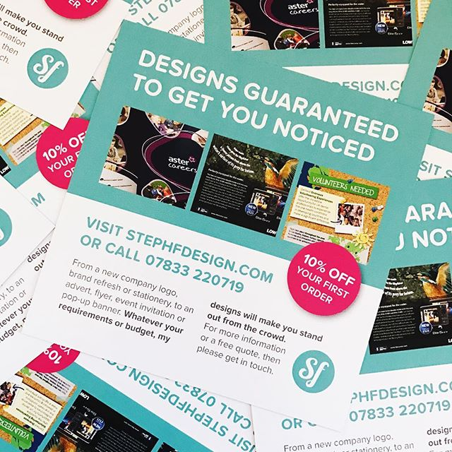 New flyers have arrived! Thanks @moo #flyers #square #graphicdesign #printdesign #colourful