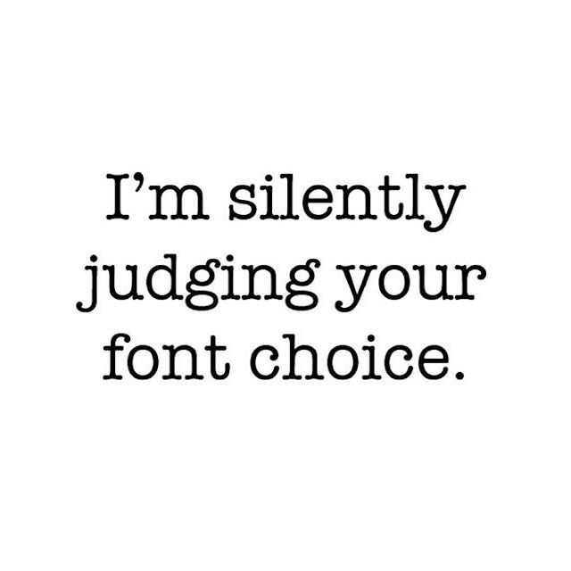 So true! 🤫😂 . #comicsans #badfonts #designerproblems #typography #no #pleasedont #graphicdesign