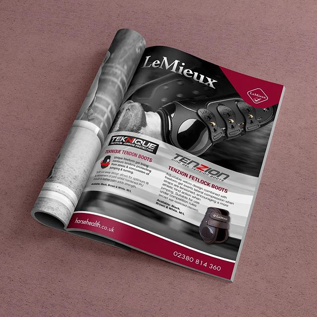 Here's one of my latest adverts for Le Mieux. Such beautiful imagery to work with. I love working on projects like this 😊 . #graphicdesign #freelance #printad #printadvertising #advertising #wiltshire #printdesign #equestrian #horsehealth #lemieux #magazinedesign #lovewhatyoudo