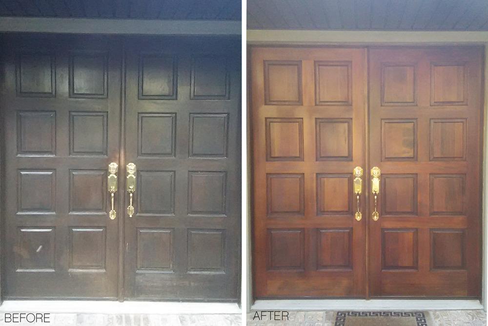 Double Door Refinishing Jacksonville, Florida