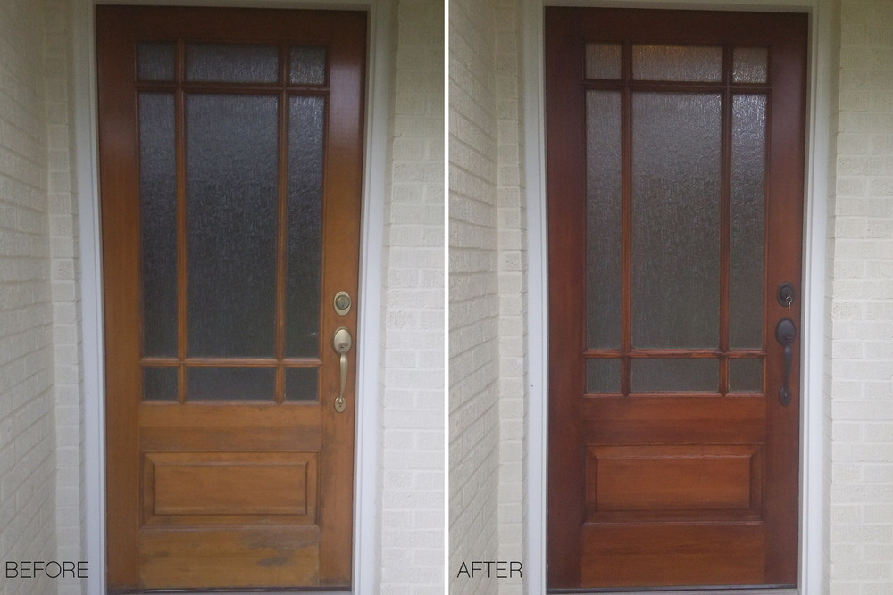 Glass Door Refinishing