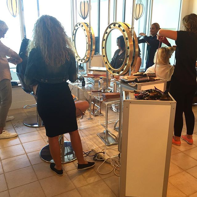 Busy busy Busy at #hairspacemontauk #beautifulhair #beachhair #sexylonglayers www.hairspace.co