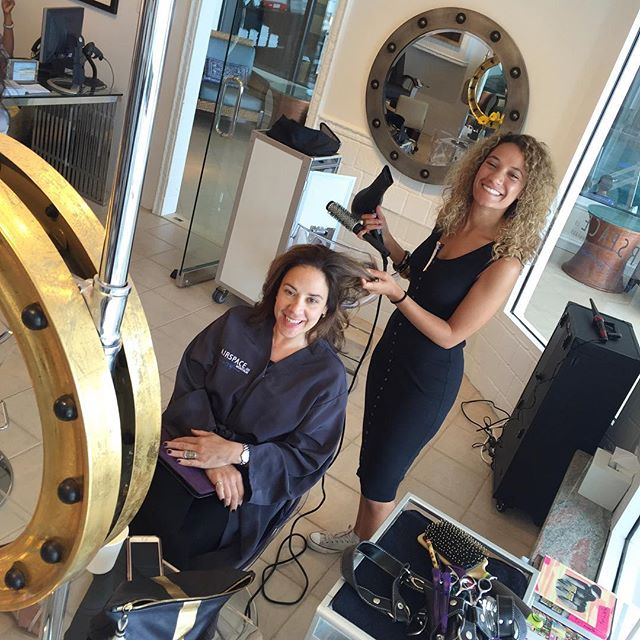 @sirenitysuttles getting @lidiacortinakarras ready for her @beach_magazine cover party.