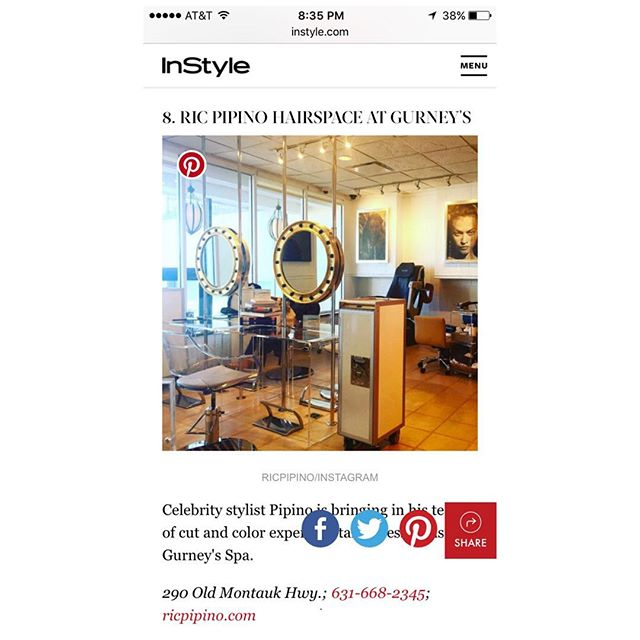 Thanks @instylemagazine for including us in your August issue. #gurneysmontauk #hairspacemontauk #ricpipinoonlocation check it out.  http://www.instyle.com/lifestyle/travel/hamptons/where-to-find-all-cool-kids-montauk#1417932