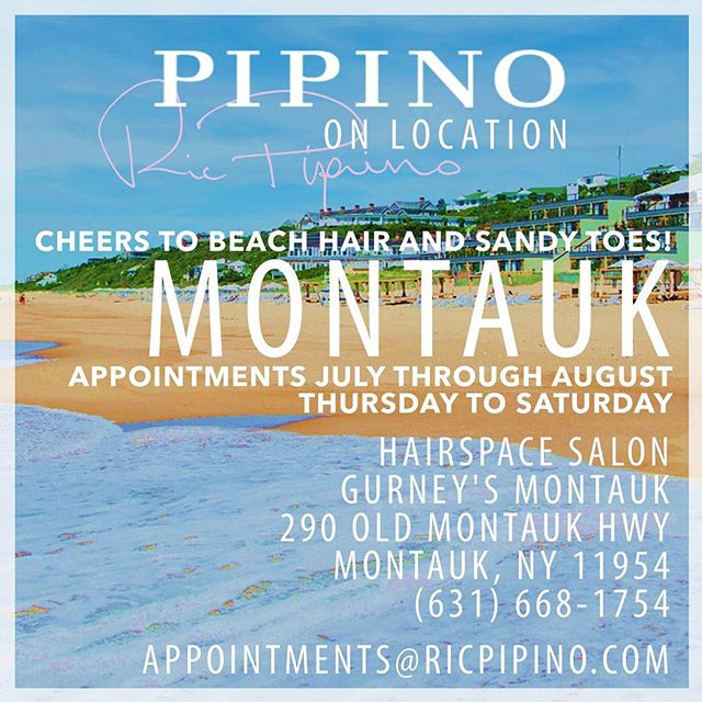 In your in Montauk or the Hamptons over the summer and need your hair cut, colorist or just a sexy hairstyle come see us at #hairspacemontauk  #gurneysmontauk #summer2017 #sexyhair