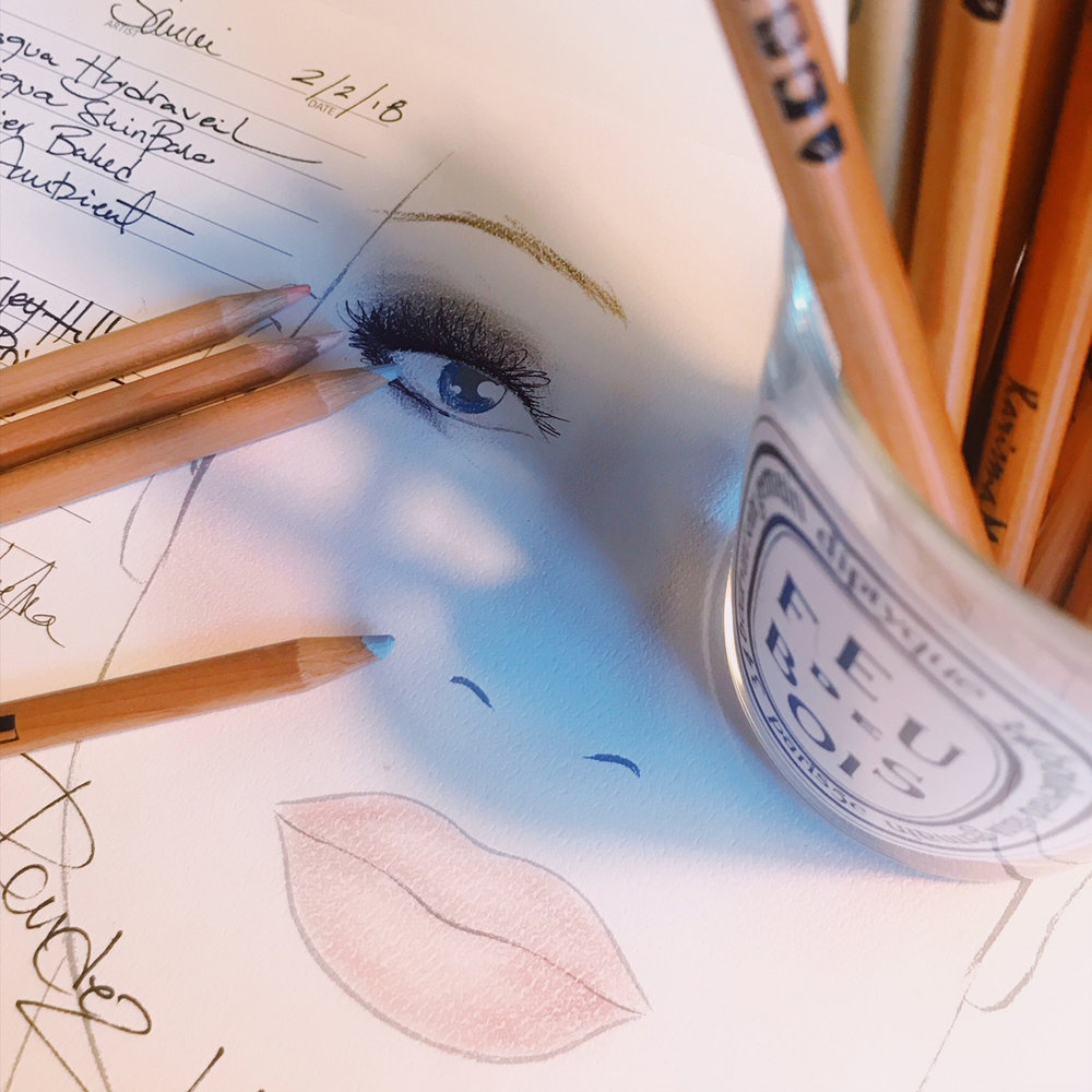 Face chart in progress..