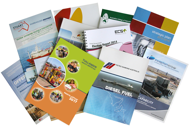 Various reports and publications - design and artwork