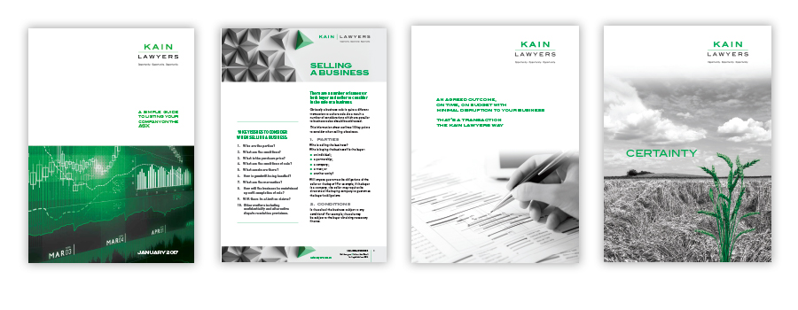 Various brochures for legal company