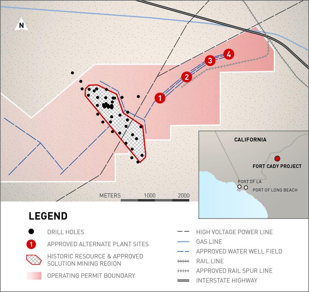 Mining location map