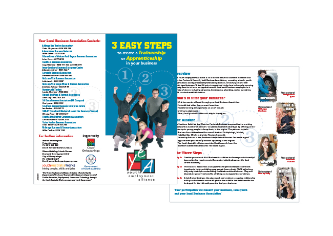 Youth services brochure for City of Onkaparinga