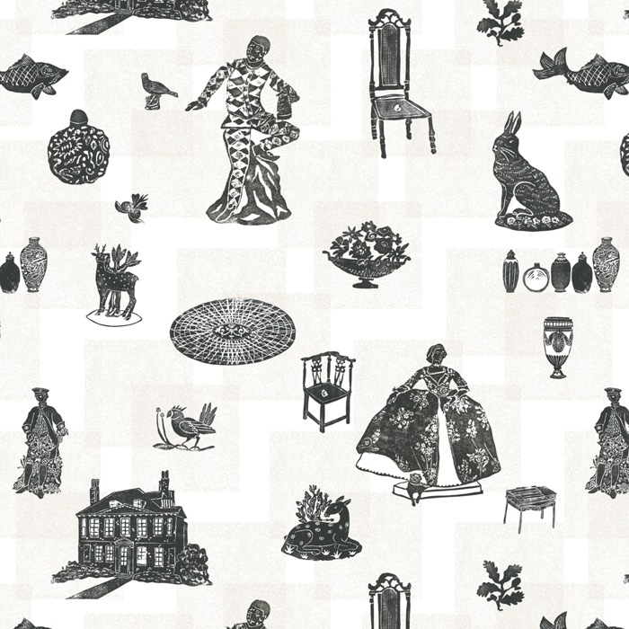 Bespoke textile made for the National Trust property Fenton House as part of the TRACES 'Loves, Lives and Loss' exhibition December 2016.