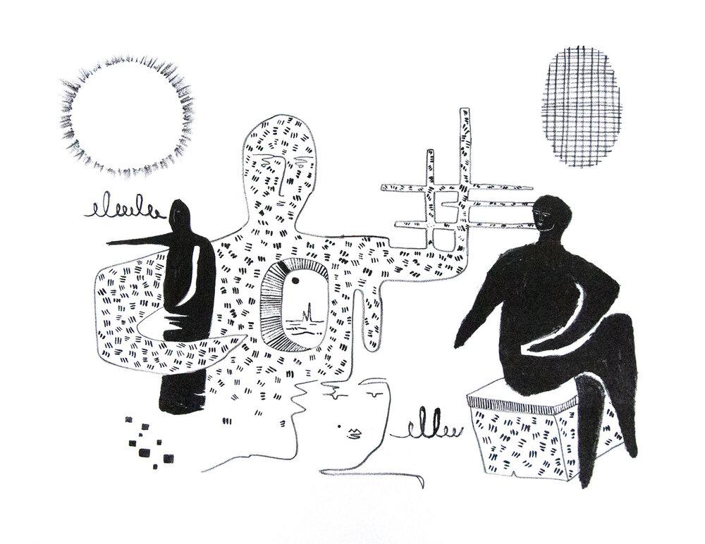 LESIURE - Litho Print