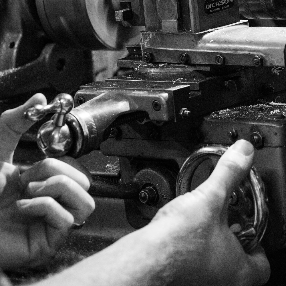 PRECISION + CRAFTSMANSHIP - The Studio Pen combines a blend of traditional techniques and hand-finishing with state of the art manufacture.By using precision CNC lathes that are typically used to turn components for the aerospace industry and to make watch parts.  It's my intention to make highly functional and precise writing instruments with the 'soul' only achieved by the craftsperson.