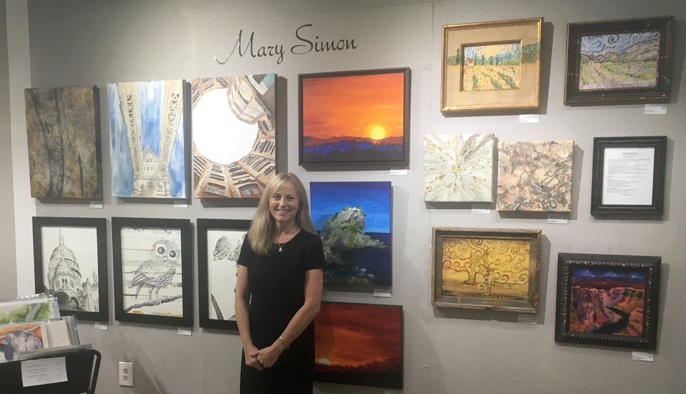 October Visiting Artist exhibition at the Artists Guild Gallery of Greenville, SC.  2017