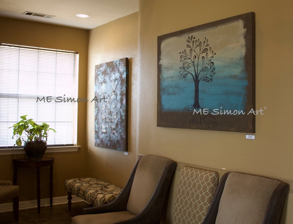 "Office artwork on display in Keller, TX.  Location of my ""Painting of the Month"", beginning February 2018."