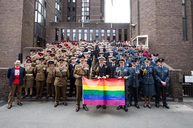 British Forces at London Pride 2017 Credit: Royal Navy