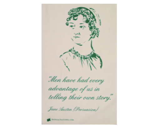 Jane Austen Tea Towel by The Radical Tea Towel Company.png