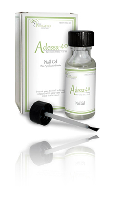 Adessa 40: a nail gel used on fungus toenails