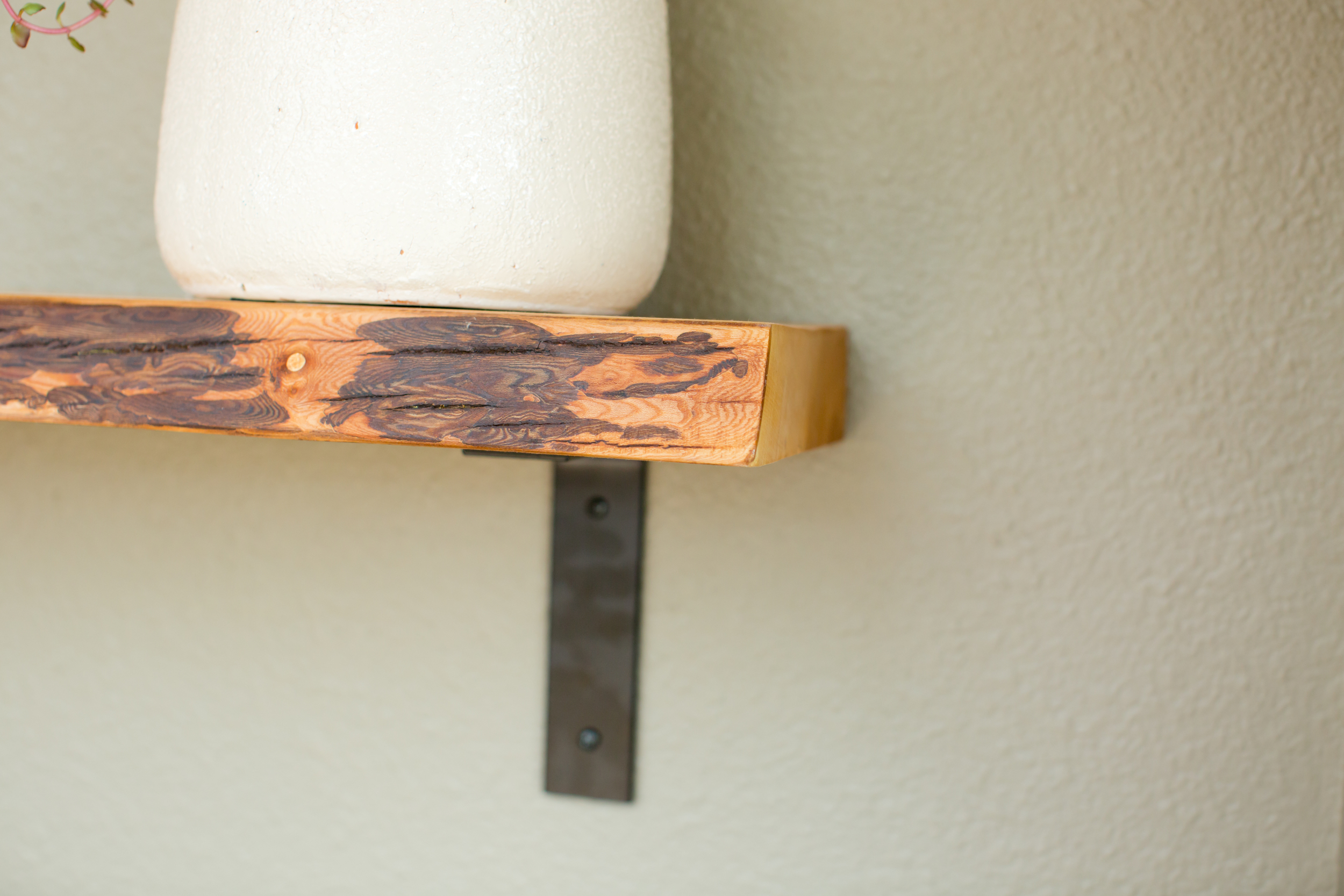 "The Live Edge Maple Shelf w ""L"" Shaped Brackets — Big Fir Designs"