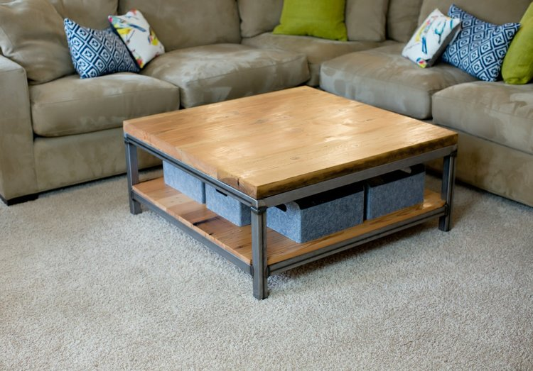 Big Fir Designs Custom Portfolio Big Fir Designs - Brickmakers coffee table