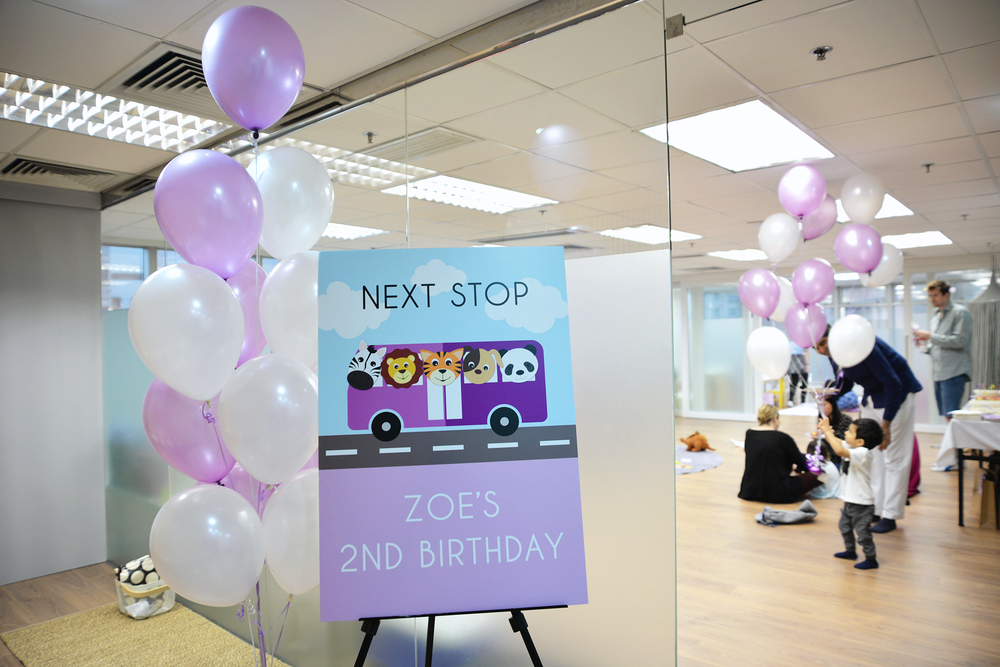 Purple Bus Themed Party