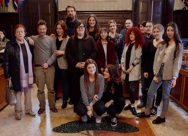 #PR2 family! Radunata per la conferenza stampa di #CameraWork, che si è tenuta questa mattina presso il Comune di Ravenna