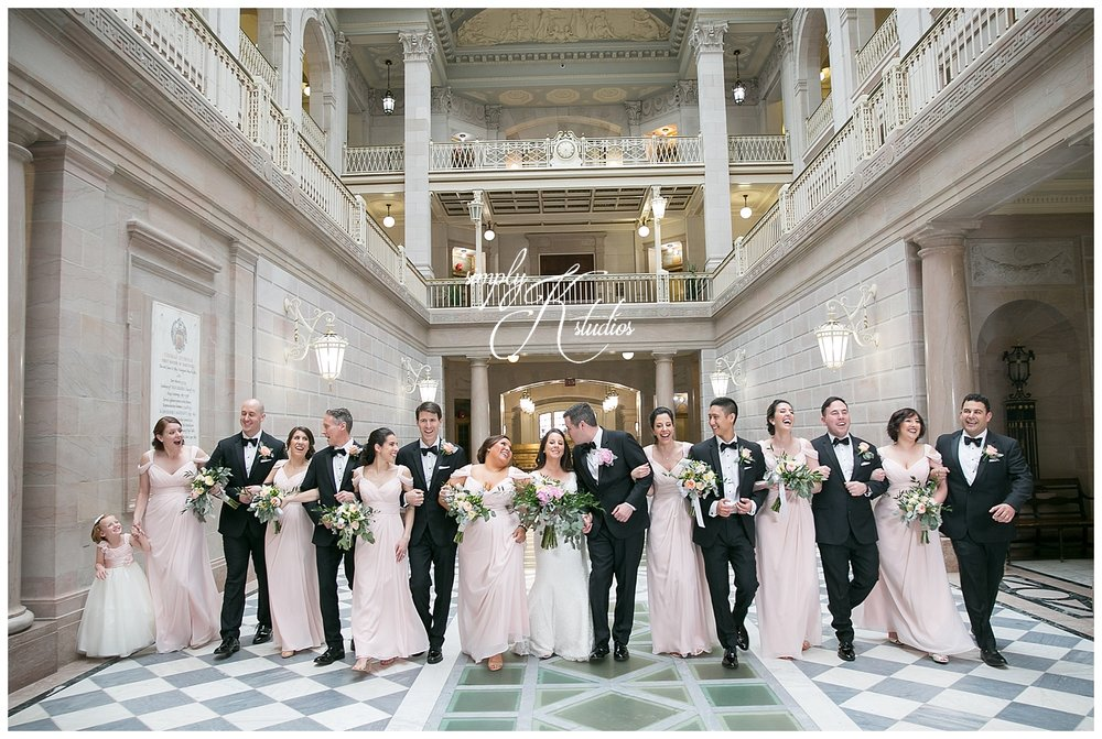 Bridal Party Photos at City Hall in Hartford.jpg