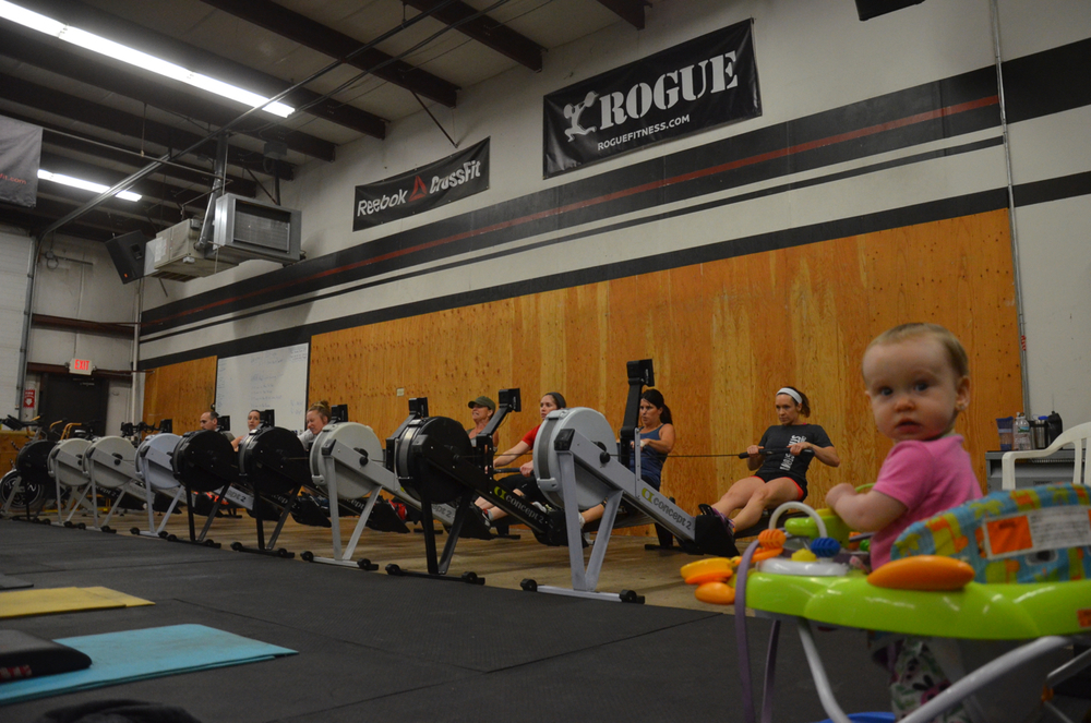 Olivia and 4pm starting their 4 minute row.
