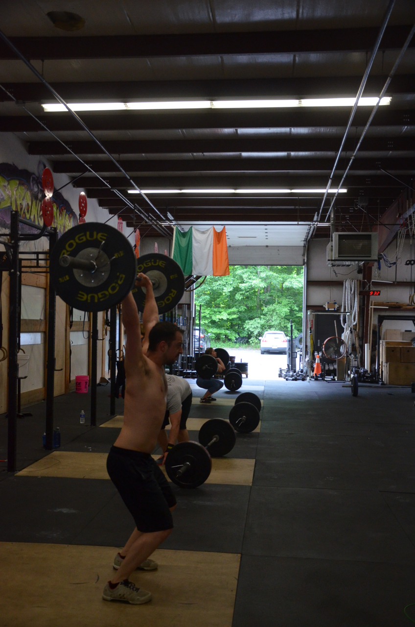 Dan going with a push-jerk on Saturday's 4 rounds.
