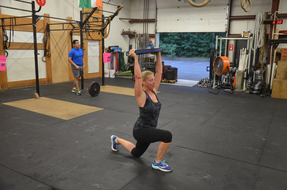 Lucie showing good form on her lunges.