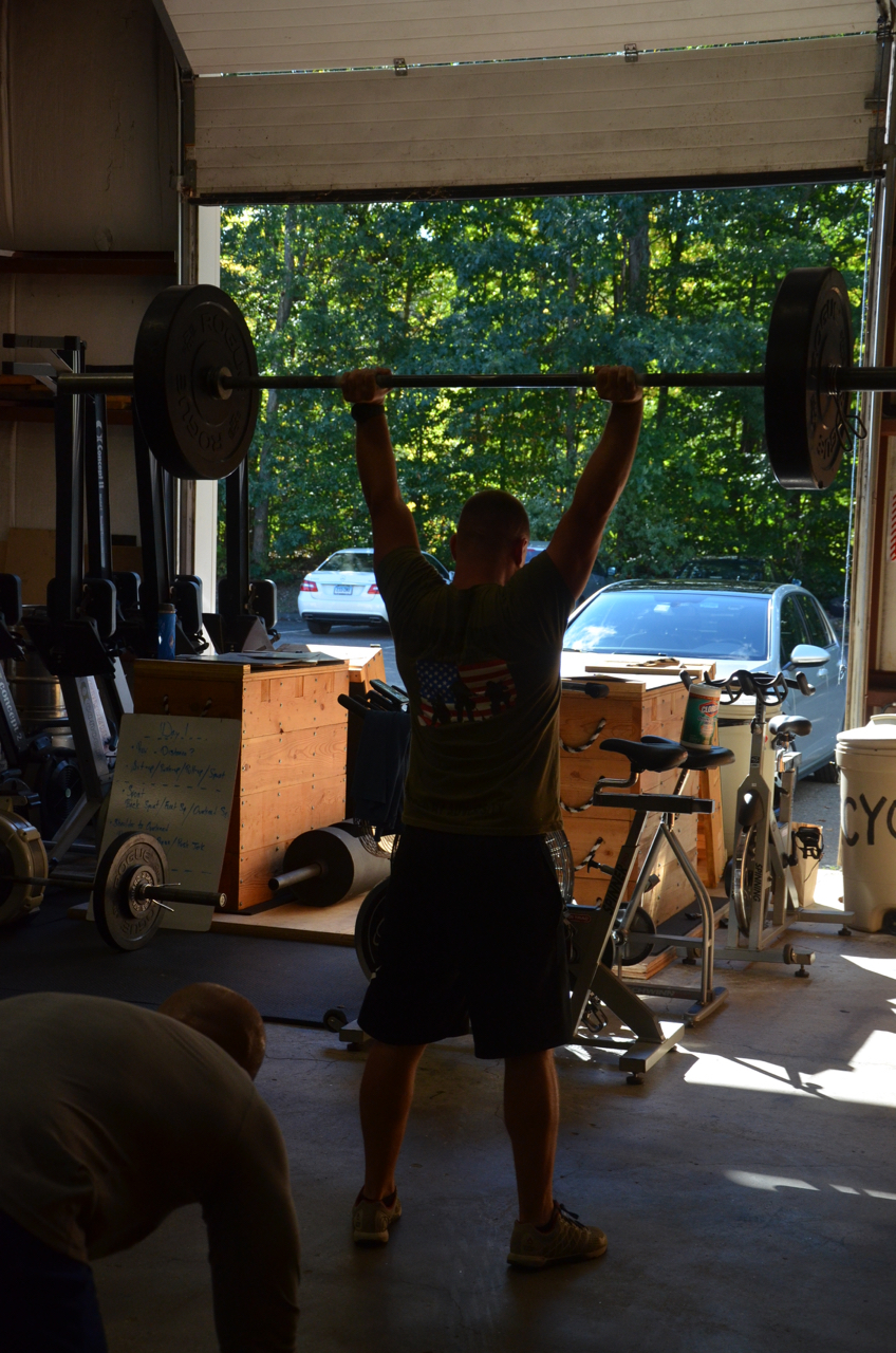 Garrett working through his thrusters.
