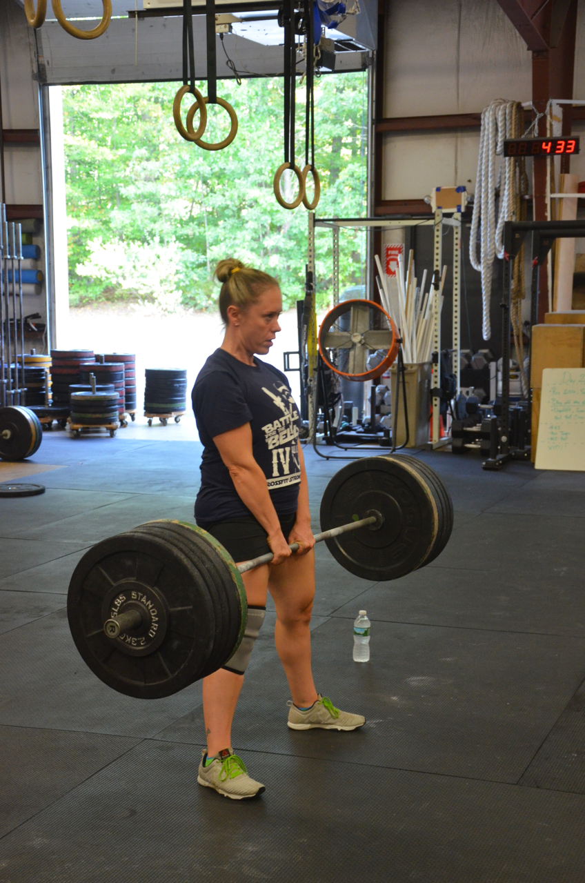Courtney looking strong on her sumo deadlift.