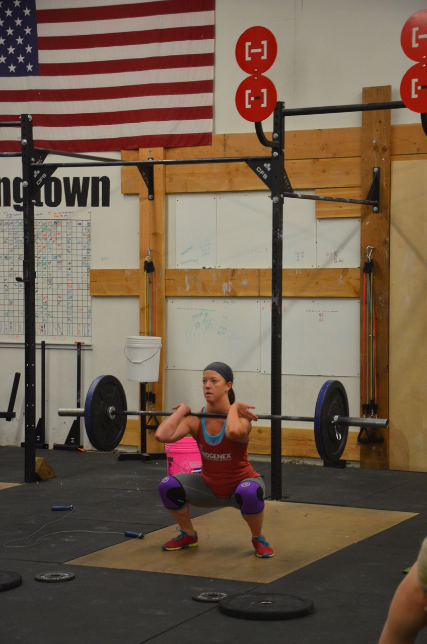 Jess looking solid on her front squats.