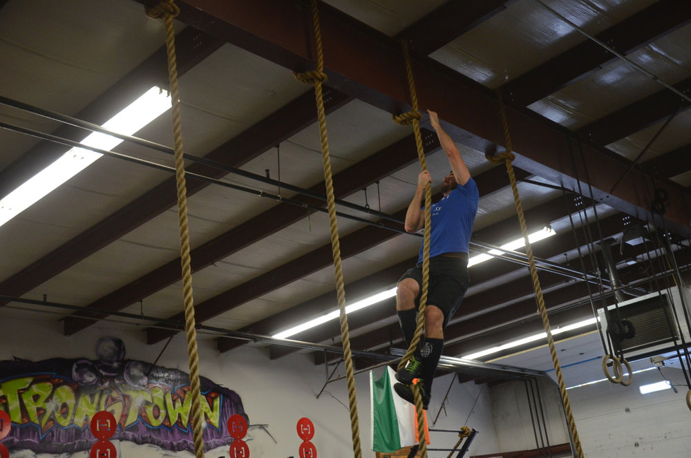 Rob making his rope climbs look easy.
