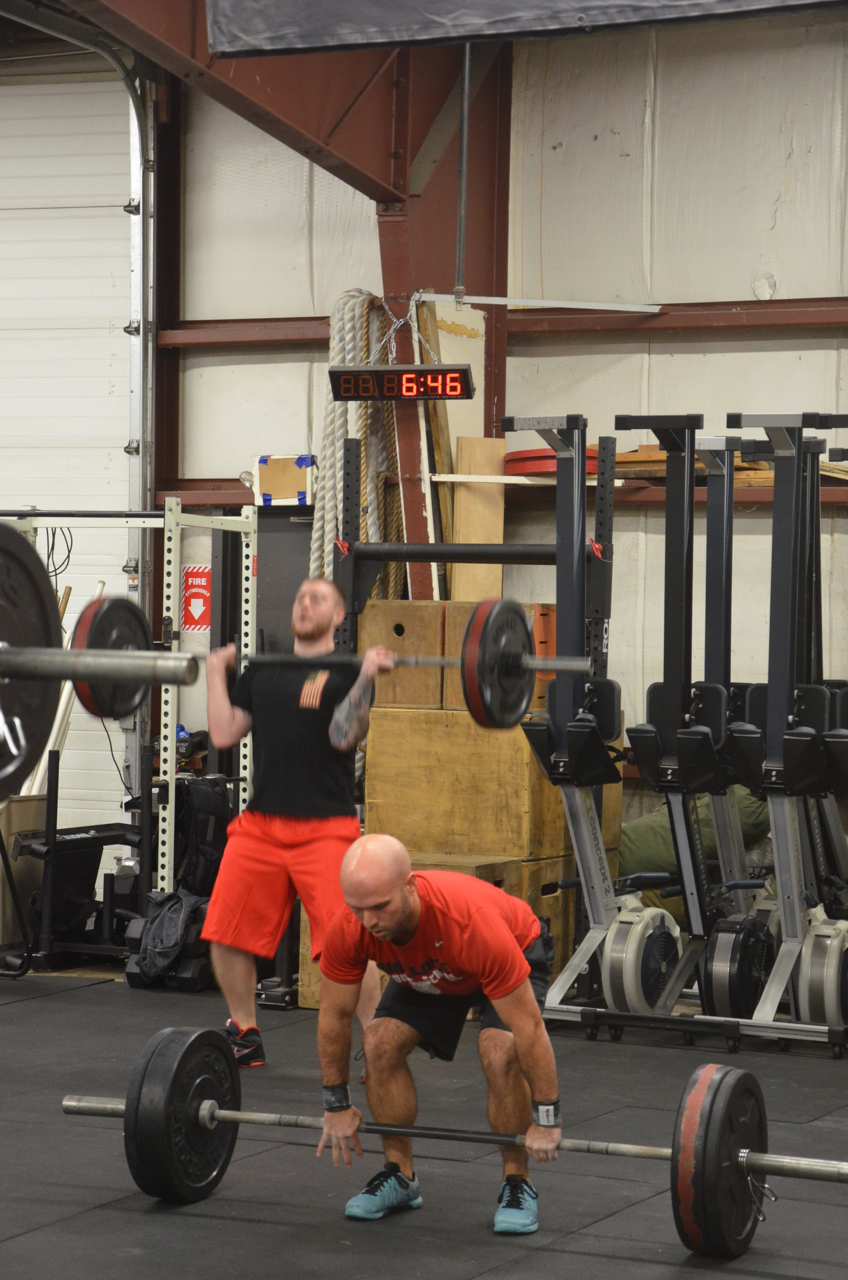 Timmy looking strong on his power cleans.