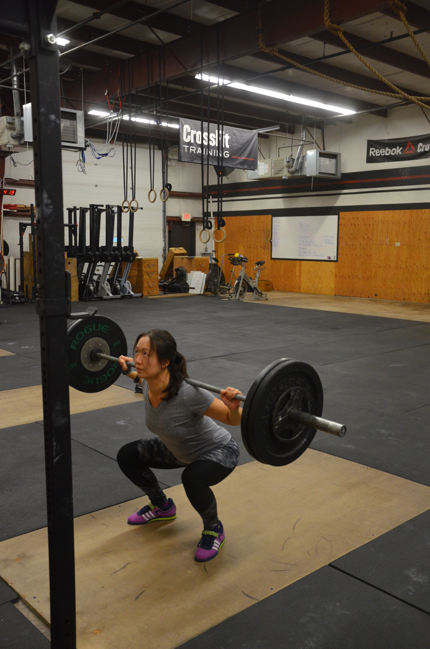 Angel looking solid on her squats.