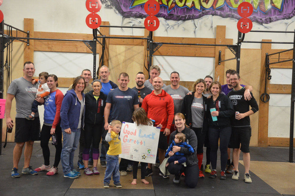 Thank you to everyone who came out to Garrett's final workout before he heads off to the USMC.