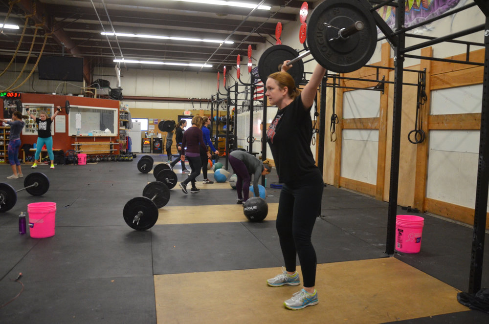 Becky looking strong on her power snatch.