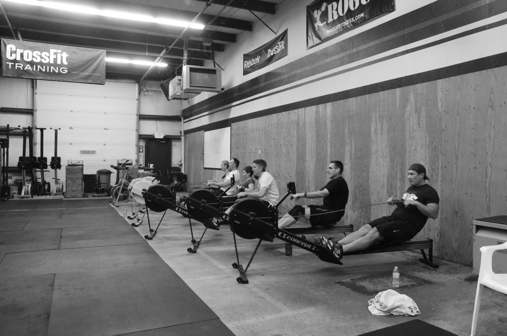 The 6am class starting their 1,000m row.