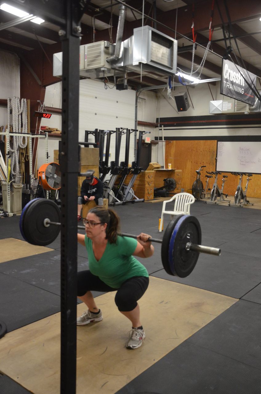 Maegan looking strong on her squats.