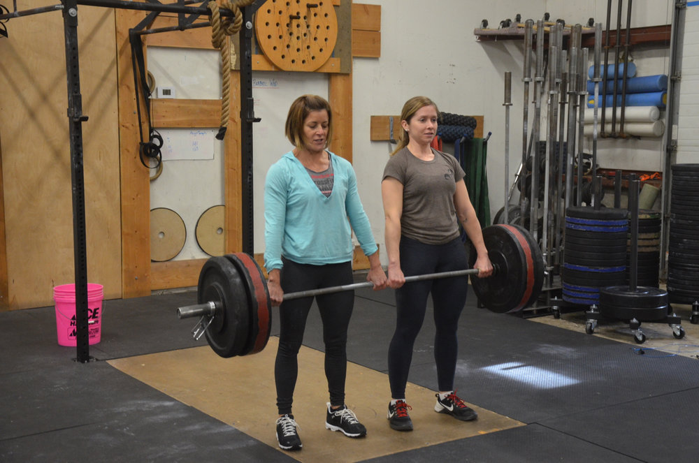Ang and Sophia making easy work of their partner deadlifts.